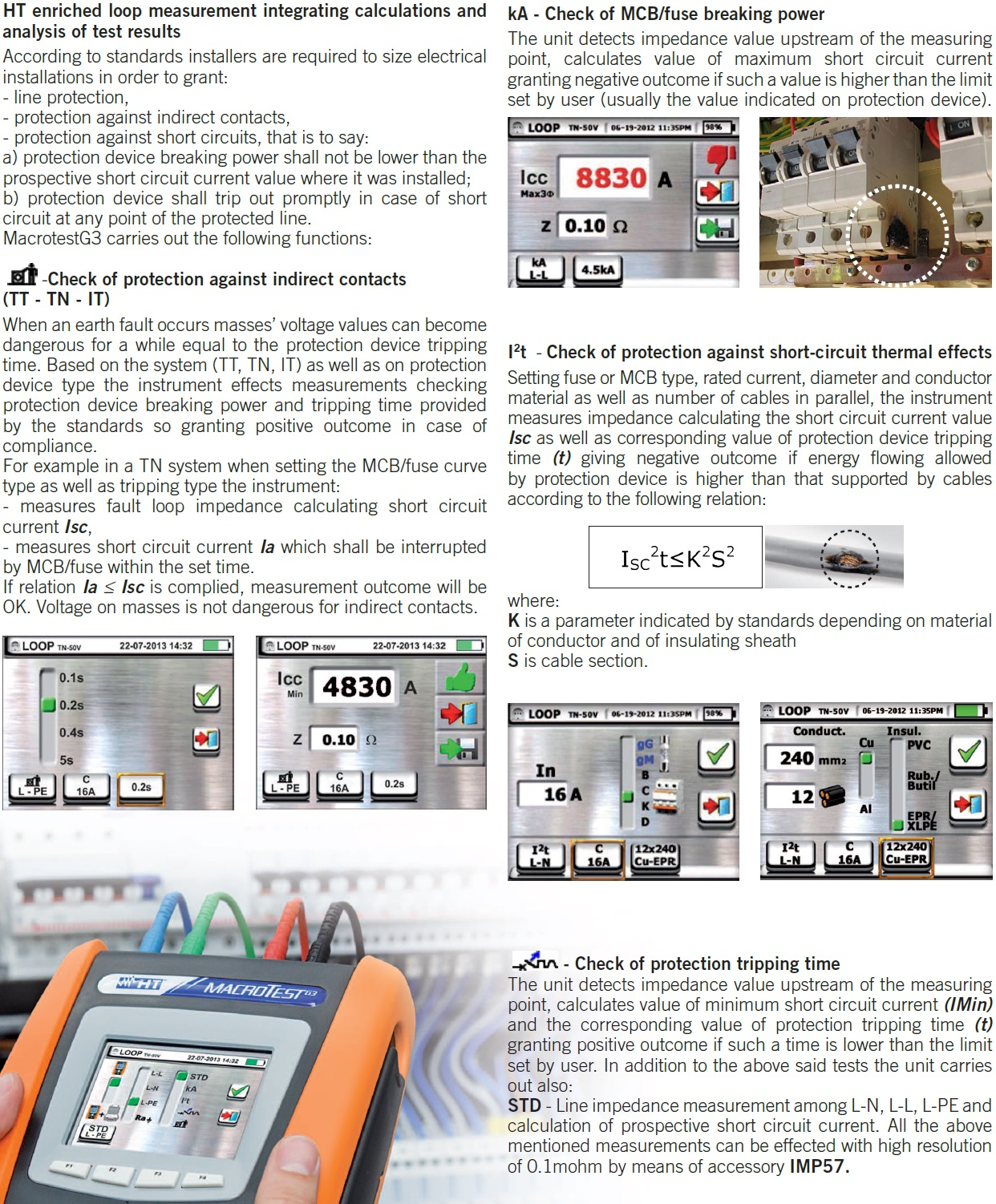 Macrotestg3 Multifunction Earth Resistance Testers Sew 2120er By Means Of Htanalysis You Can Write Detailed Reports With Pictures Add Audiovisual Notes Manage All Measurement Results